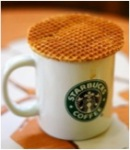 Starbucks Cup and Waffle